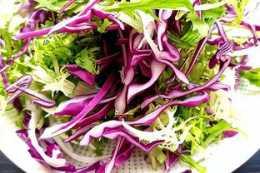 紫甘藍沙拉,簡單易做,清爽解膩